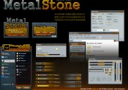 Metal Stone Windows Blind Theme
