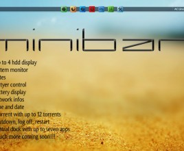 Mini Bar Super Sandy Rainmeter Theme For Windows 7