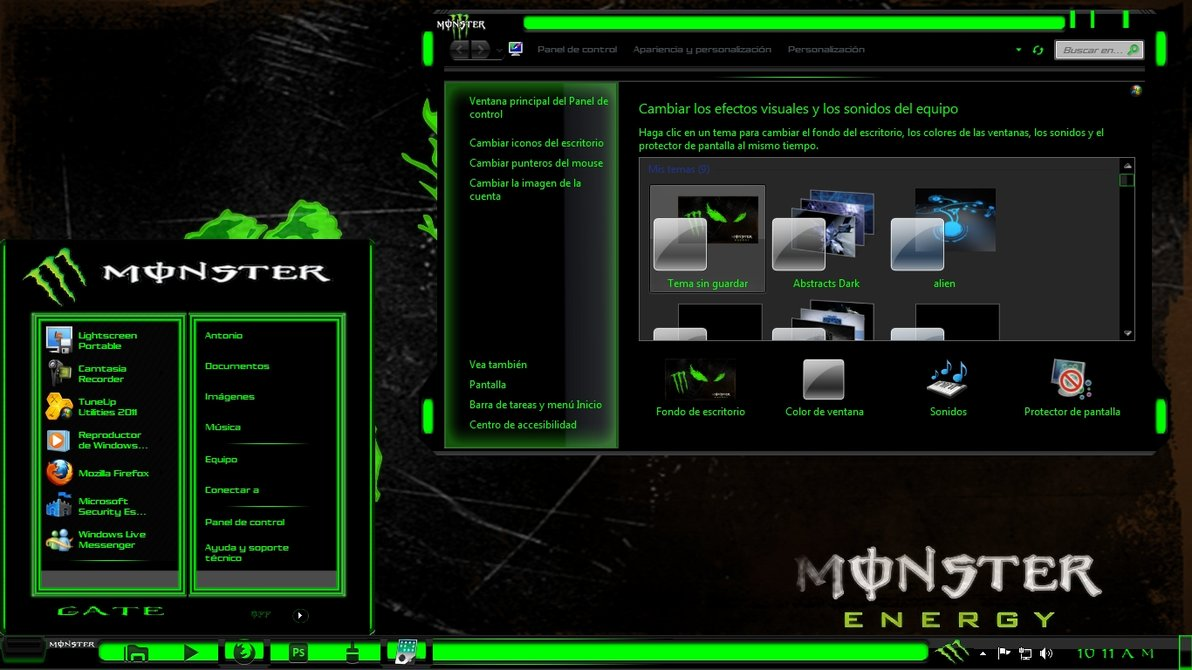 Monster energy theme for windows 7 for Energy windows