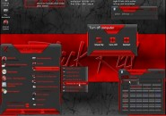 My Black 'N' Red Windows Blind Theme