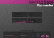 Myriad Base Rainmeter Windows 7 Skin
