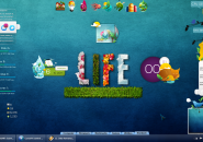 Natural Art Work Rainmeter Theme For Windows 7