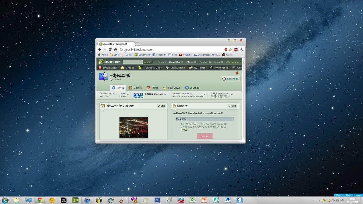 How to transform windows 7 into mac os x 10. 8 mountain lion ui.