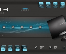 PS3 Gadgets Rainmeter Skin For Windows 7