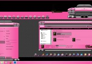 Pink Cadillac Windows Blind Theme
