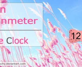 Pink Cotton Windows 7 Rainmeter Theme