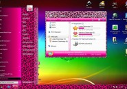 Pink leo theme for windows 7
