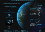 Planet Painted Blue Rainmeter Skin For Windows 7