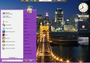 Purple Live Windows Blind Theme