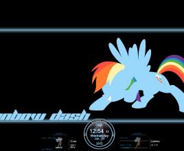 Rainbow Dash Rainmeter Theme For Windows 7