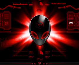 Red Alien Windows 7 Rainmeter Theme