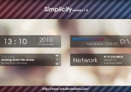 Simple Shades Rainmeter Skin