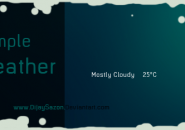 Simple Weather Windows 7 Rainmeter Skin