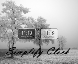 Simplify Clock Windows 7 Rainmeter Theme
