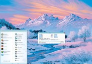 Snowing Ice Valleys Windows Blind Theme