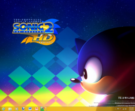 Sonic 2 HD theme for windows 7