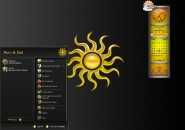 Sun With Eclipse Darkness Windows Blind Theme