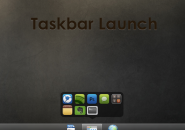 Taskbar Launch Rainmeter Theme