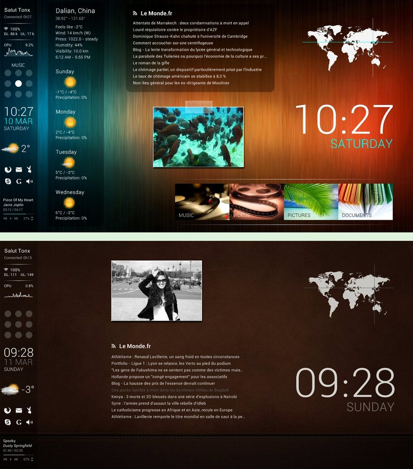 Toxico suite rainmeter theme for windows 7 for Bureau windows 7 rainmeter