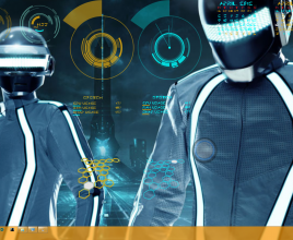 Tron Legacy Loaded Rainmeter Skin For Windows 7