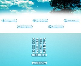 Turquoise Suite Windows 7 Rainmeter Theme