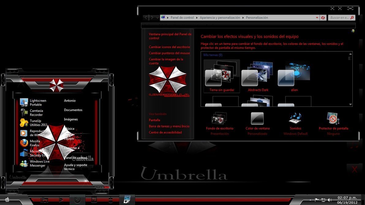 Umbrella corporation theme for windows 7