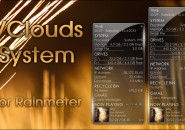 V Clouds System Windows 7 Rainmeter Skin