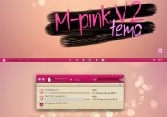 V pink v2 theme for windows 7