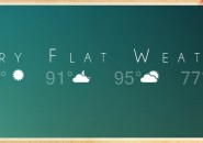 Very Flatty Weather Rainmeter Skin