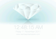 White Diamond 3D Screensaver