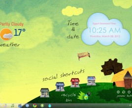 Wonderful Life Windows 7 Rainmeter Skin