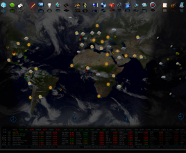 World Map Windows 7 Rainmeter Skin