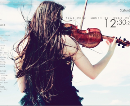 violin Heart Rainmeter Theme for Windows 7