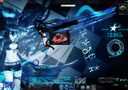 Black Rock Shooter Rainmeter Skins