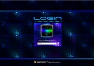 Blue Glass Logon Screen For Windows 7