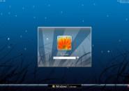 Blue Stars Windows 7 Logon Screen