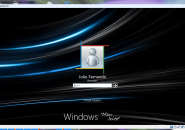 Blue Strips Logon Screen For Windows 7