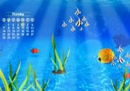 Calendar Under Water Screensaver
