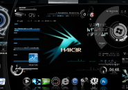 Complete Black Rainmeter Skin For Windows 7