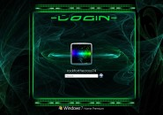 Electric Currents Logon Screen For Windows 7