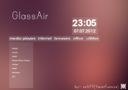 Glass Air Rainmeter Skin
