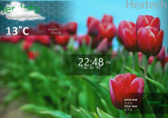 Hex Strips Rainmeter Theme For Windows 7