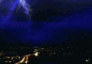 Lightning City Rain Screensaver