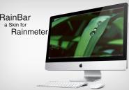 Minimalistic RainBar Rainmeter Skins
