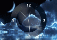 Moon Clock screensaver