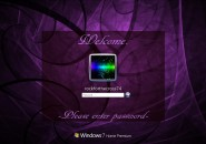 Purple Swirls Logon Screen For Windows 7