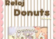 Reloj Donut Cream Rainmeter Skins