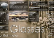 Solid Glasses Windows 7 Rainmeter Skin