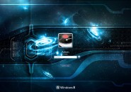 Unparallel Blue Windows 7 Logon Screen