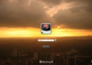 World On Fire Logon Screen For Windows 7
